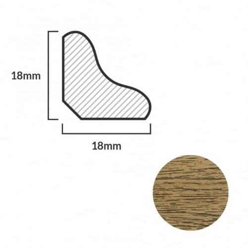 FC28 Scotia Beading For Laminte Flooring